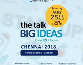 The Talk Big Ideas to scale SMEs and Startups, Chennai